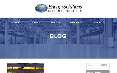 Screenshot of Blog esilighting.com - Blog – Energy Solutions International - captured Nov. 1, 2017