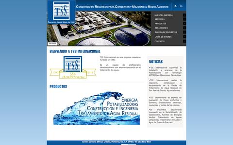 Screenshot of Home Page tssinternacional.com - ≈≈ TSS Internacional ≈≈ - captured Oct. 6, 2014