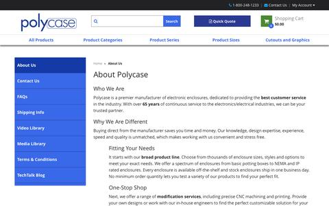 Screenshot of About Page polycase.com - About Us | Polycase - captured Nov. 7, 2016