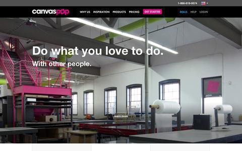 Screenshot of Jobs Page canvaspop.com - Careers | CanvasPop - captured Sept. 23, 2014