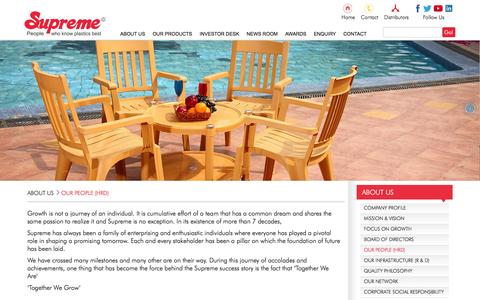 Screenshot of Team Page supreme.co.in - Outdoor Storage, Outdoor Furniture, Outdoor Chairs, Outdoor Storage, Outdoor Furniture, Outdoor Chairs - captured Feb. 5, 2016