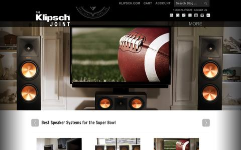 Screenshot of Blog klipsch.com - The Klipsch Joint - The Official Blog of Klipsch® - Keepers of the Sound™ - captured Feb. 12, 2016