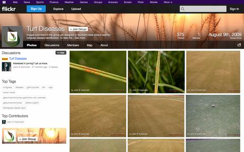 Screenshot of Flickr Page flickr.com - Flickr: The Turf Diseases Pool - captured Nov. 5, 2014