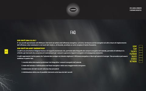 Screenshot of FAQ Page clenergy.it - FAQ   Clenergy - captured Oct. 1, 2014