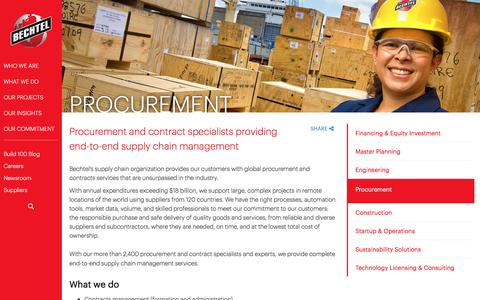 Procurement and Supply Chain Management - Bechtel