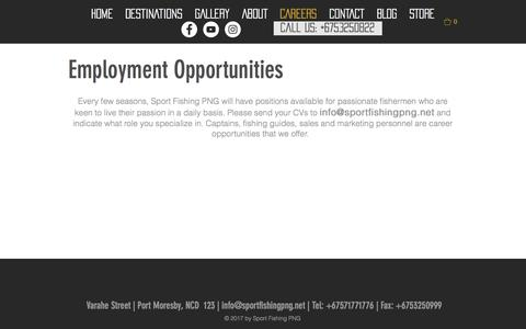 Screenshot of Jobs Page sportfishingpng.net - Careers at Sport Fishing PNG / Port Moresby / Sport Fishing PNG - captured Sept. 21, 2018