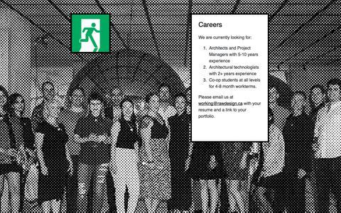 Screenshot of Jobs Page rawdesign.ca - RAW Design | Careers - captured Nov. 18, 2018