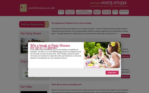 Screenshot of Blog partyhouses.co.uk - Blog - Party Houses - captured Oct. 1, 2014