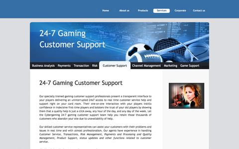 Screenshot of Support Page onecybertech.com - 24-7 Gaming Customer Support | Poker Customer Support - captured July 6, 2017