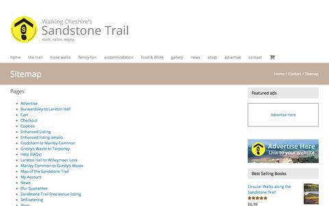 Screenshot of Site Map Page sandstonetrail.co.uk - Sitemap - Sandstone Trail - captured July 11, 2018
