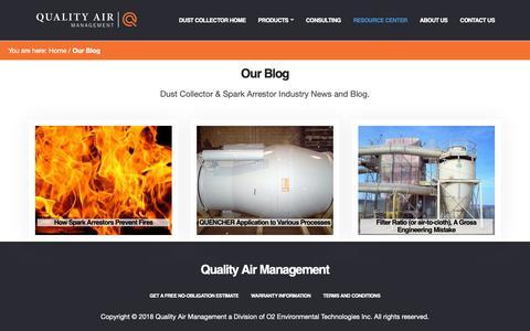 Screenshot of Blog qamanage.com - Blog, Articles, Testimonials - Quality Air Management - captured Sept. 28, 2018
