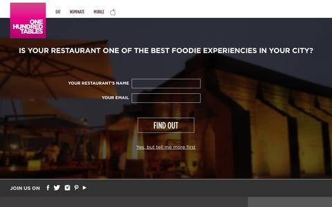 Screenshot of Signup Page onehundredtables.com - One Hundred Tables | Add a Restaurant - captured Dec. 2, 2016