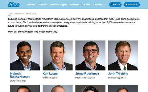 Screenshot of Team Page cleo.com - About Cleo: Meet Our Leadership Team | Cleo - captured Feb. 22, 2020