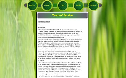Screenshot of Terms Page winerest.com - winerest homepage - captured Oct. 1, 2014