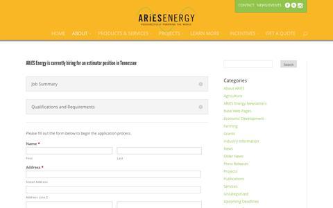 Screenshot of Jobs Page ariesenergy.com - Careers | ARiES Energy - captured Nov. 19, 2016