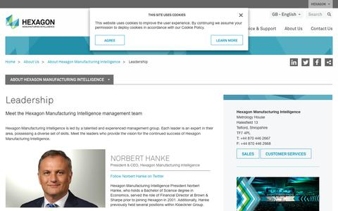 Screenshot of Team Page hexagonmi.com - Leadership | Hexagon Manufacturing Intelligence - captured July 9, 2017