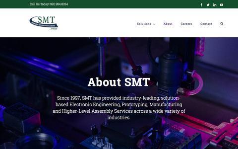Screenshot of About Page teamsmt.com - About   SMT - captured Sept. 25, 2018