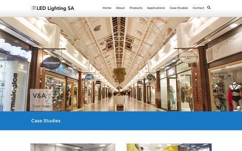 Screenshot of Case Studies Page ledlighting.co.za - Case Studies : LED Lighting - captured Jan. 22, 2016