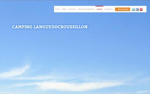 Screenshot of Contact Page camping-languedocroussillon.nl - contact - Camping Languedocroussillon - captured Sept. 27, 2014