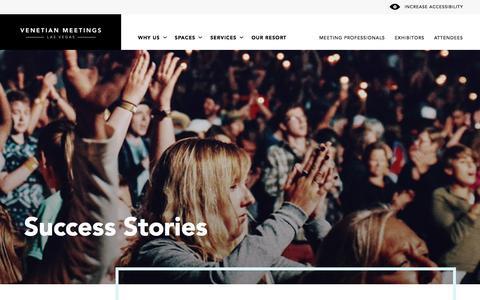 Screenshot of Case Studies Page venetian.com - Case Studies   Sands Expo® and Venetian Meetings - captured July 3, 2018