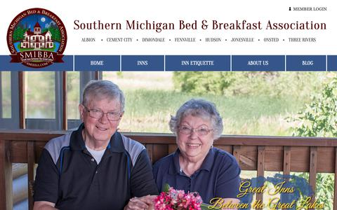 Screenshot of About Page Privacy Page southernmichiganinns.com - Join the Southern Michigan Bed and Breakfast Association - captured Oct. 31, 2018