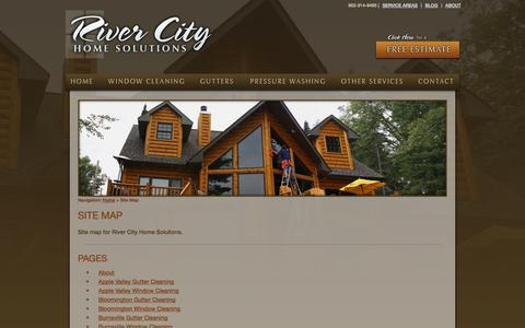 Screenshot of Site Map Page rivercityhomesolutions.com - River City Home Solutions - Site Map - captured Oct. 26, 2014
