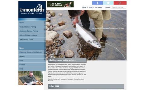 Screenshot of Press Page salmon-fishing-scotland.com - News - The Monteith - captured Oct. 4, 2014