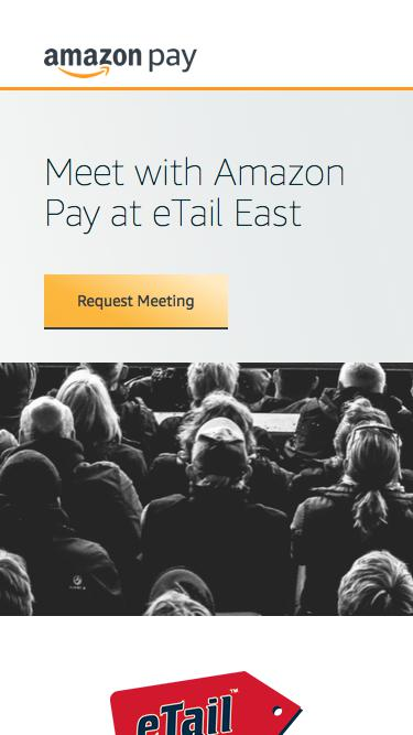 Screenshot of Landing Page  amazon.com - Meet with Amazon Pay at