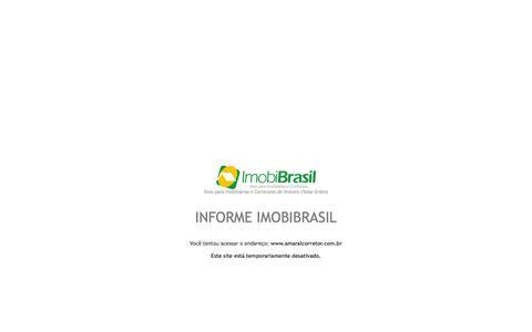 Screenshot of Home Page amaralcorretor.com.br - IMOBIBRASIL - Site para Imobiliárias - captured Oct. 7, 2014