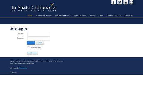 Screenshot of Login Page tscwny.org - User Log In - captured Oct. 6, 2017