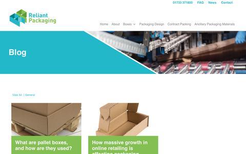 Screenshot of Press Page reliantpackaging.co.uk - News - Reliant Packaging Ltd : Reliant Packaging Ltd - captured Oct. 20, 2018