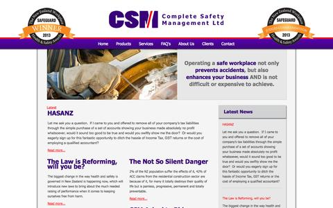 Screenshot of Press Page completesafetymanagement.co.nz - Latest - Complete Safety Management - captured Oct. 2, 2014