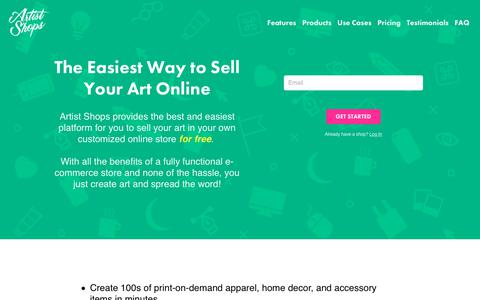 Screenshot of Signup Page threadless.com - How to Sell Your Art Online With Artist Shops - captured July 6, 2018