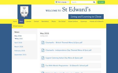 Screenshot of Press Page stedwards.bucks.sch.uk - Welcome to St Edwards Catholic Junior (Bucks) - captured May 25, 2016