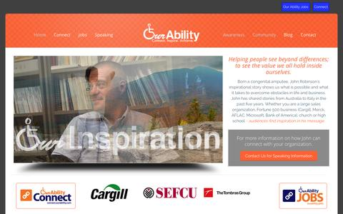 Screenshot of Home Page ourability.com - OUR ABILITY | Our AbilityOur Ability - captured Sept. 30, 2014