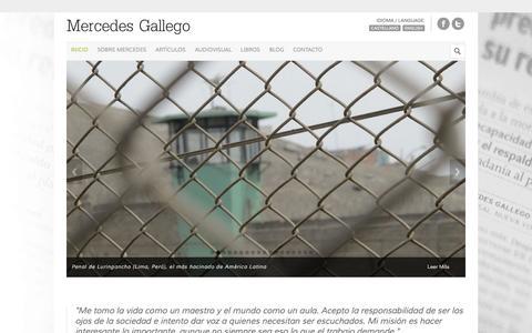 Screenshot of Home Page mercedesgallego.com - Mercedes Gallego - captured Sept. 26, 2015