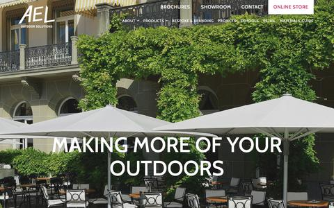 Screenshot of Home Page aelsolutions.com - AEL Solutions   Making More Of Your Outdoors - captured Sept. 29, 2018