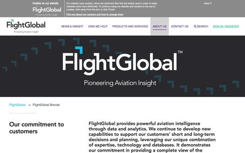 Screenshot of About Page flightglobal.com - About us - captured Jan. 10, 2018