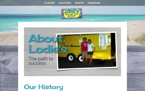 Screenshot of About Page lodiesshavedice.com - About — Lodies Shaved Ice - captured Oct. 3, 2014