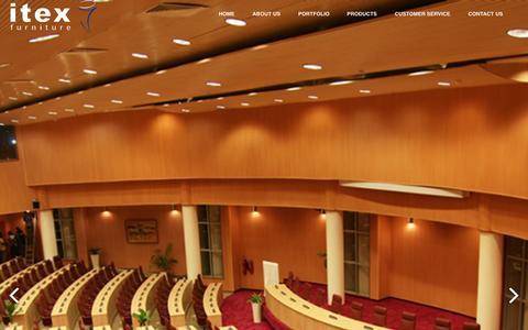 Screenshot of Home Page itexfurniture.com - iTex Furnitures - captured Sept. 30, 2014