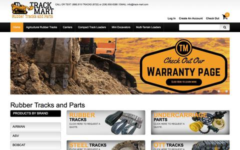 Screenshot of Home Page track-mart.com - Rubber Tracks & Undercarriage Parts Company – Track Mart - captured July 8, 2018