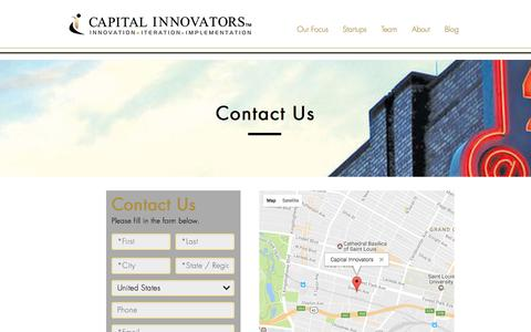 Screenshot of Contact Page capitalinnovators.com - Capital Innovators | Contact Us - captured May 18, 2017