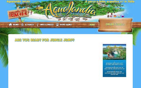 Screenshot of Press Page aqualandia.it - News - Aqualandia Jesolo - captured July 26, 2016