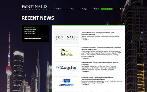 Screenshot of Press Page fontinalis.com - News - 3rd Quarter 2014 - Fontinalis Partners - captured Nov. 3, 2014