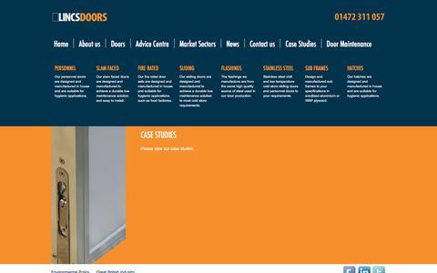 Screenshot of Case Studies Page lincsdoors.co.uk - Case Studies from Lincs Doors - captured Jan. 30, 2016