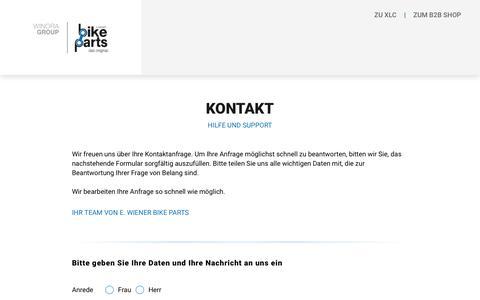 Screenshot of Contact Page bike-parts.de - Bike-Parts - captured Sept. 22, 2018