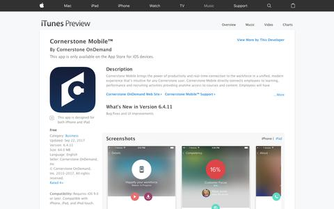 Cornerstone Mobile™ on the App Store