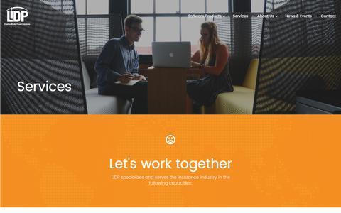 Screenshot of Services Page lidp.com - Services - My Blog - captured July 10, 2017