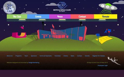 Screenshot of Press Page bgcvista.org - News   Boys & Girls Club of Vista - captured Nov. 3, 2014