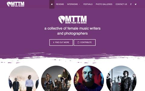 Screenshot of Home Page morethanthemusic.co.uk - MTTM - a collective of female music writers and photographers - captured Oct. 20, 2018